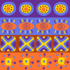 Seamless pattern with different ethnic elements