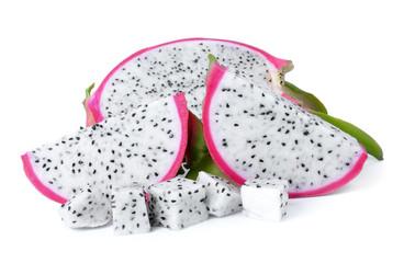 Dragon Fruit isolated against white background.