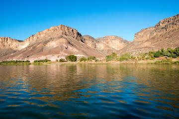 Sur la rivière Orange en Namibie
