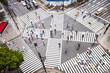 Leinwanddruck Bild - Straßenkreuzung in Tokyo