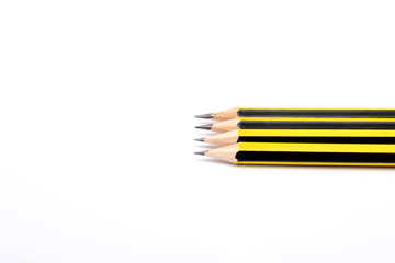 Many pencils in white background