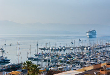 Cruise ship in Ajaccio port