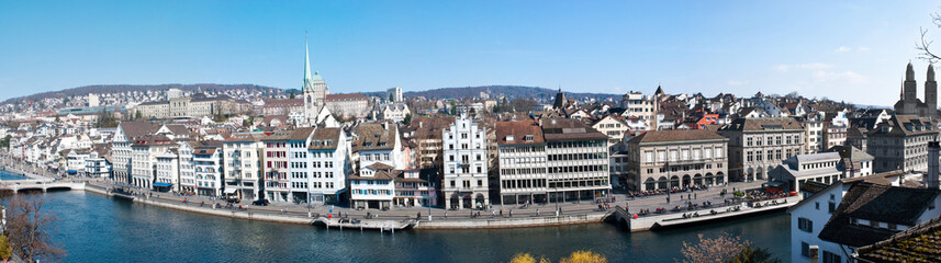 panorama of the zurich embankment