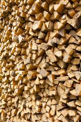Birch firewood pile