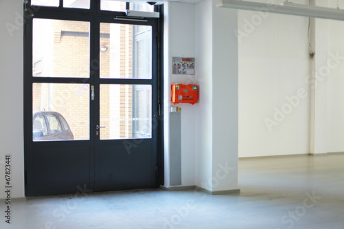 Leinwanddruck Bild Loft Eingang