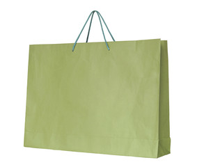 shopping paper bag isolated on white with clipping path