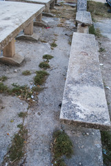 Concrete Stables and Benches