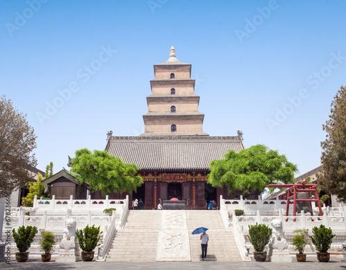 Deurstickers Xian Giant Wild Goose Pagoda