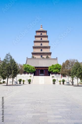 Deurstickers Xian Big Wild Goose Pagoda in Xian