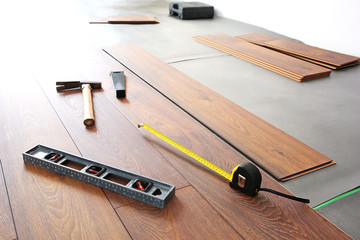 Home renovation by new wooden floor