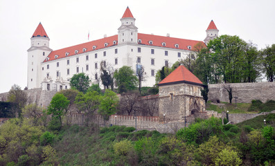Castle and park in the city of Bratislava, Slovakia, Europe
