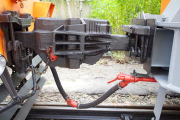 Image of a train coupling
