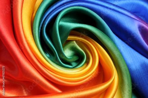 Leinwanddruck Bild RegenbogenStoff