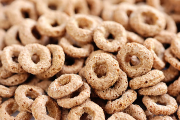 Chocolate rings breakfast. Background image.