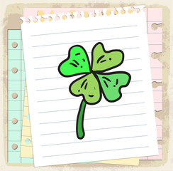 Cartoon clover illustration
