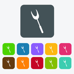 Spatula icons set. Rectangle colourful 12 buttons. Vector