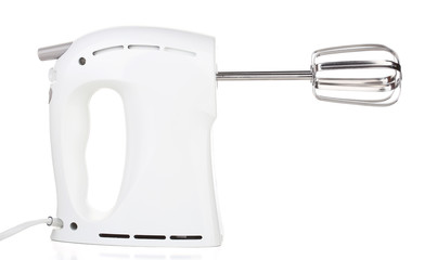 Modern electric mixer, isolated on white
