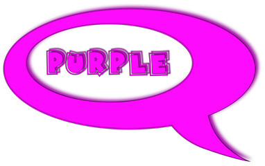 Purple cartoon