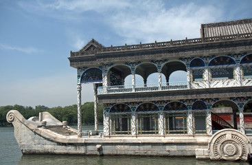 The Marble Boat in the Summer Palace, Beijing, China