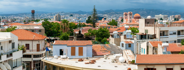 Limassol. Panorama of old town. Rooftop view. Cyprus