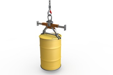Equipment for lifting barrels