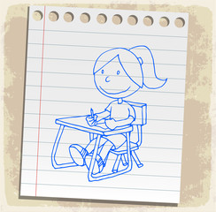 Cartoon  back to school, illustration