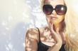 fashion portrait of beautiful woman in sunglasses.Summer style