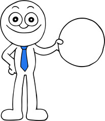 Businessman With Circle