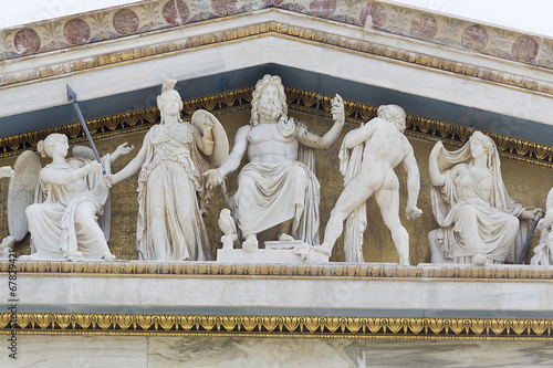Staande foto Athene Olympian Gods from the Academy of Athens