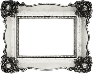 Vintage frame isolated on white -Clipping Path