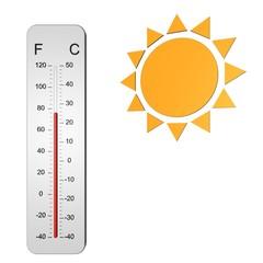 Zomerse temperatuur