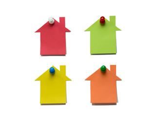 家型のメモ用紙
