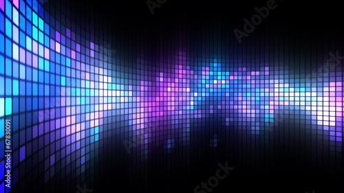 Leinwandbild Motiv Dance Lights Wall Background