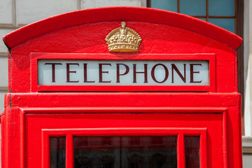 Telephone booth. London, England