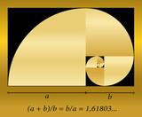 Golden Cut Spiral Formula - 67830854