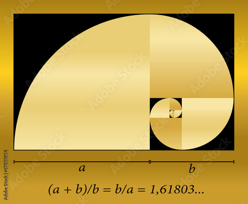 Golden Cut Spiral Formula - 67830854