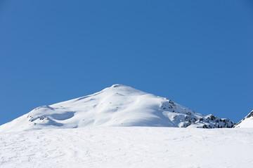 Alpengipfel im Winter
