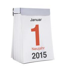 Kalenderblatt Neujahr 2015