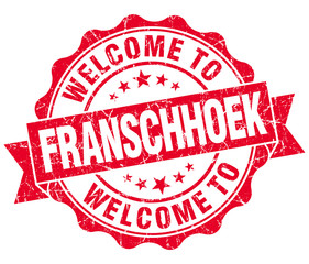 welcome to Franschhoek red vintage isolated seal