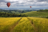 Hot Air Balloons over the East Yorkshire Wolds