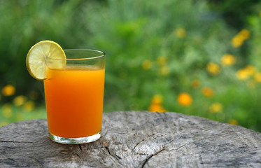 orange juice on the table