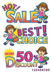 shopping girl sale discount