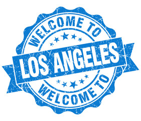 welcome to Los Angeles blue vintage isolated seal