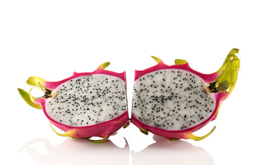 Dragon Fruit Hemispherical white background