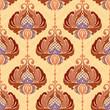 Decorative floral damask pattern