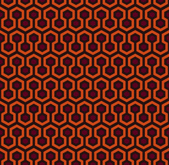pattern - würfel  - braun rot orange
