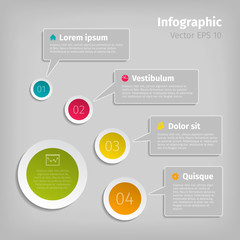 Digital illustration infographic elements. Vector format.