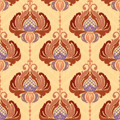 Decorative floral damask pattern