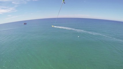 Parasailing. Bird's eye view