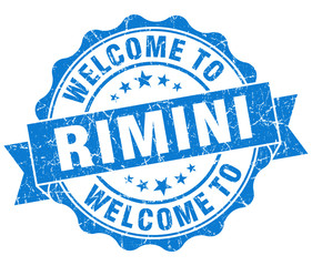 welcome to Rimini blue vintage isolated seal